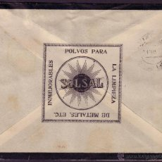 Sellos: ESPAÑA. (CAT. 317).1926. SOBRE LUTO PUBLICIDAD * SOLSAL * DE LA CORUÑA. 25 CTS. MAT. FECHADOR. RARO.. Lote 23661439