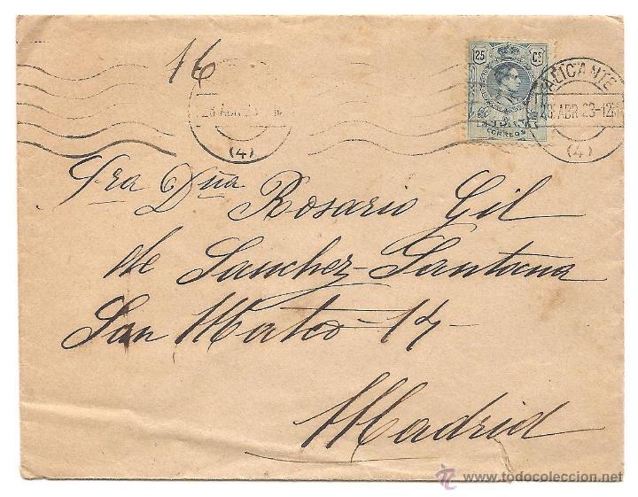 Sellos: LOTE 3 CARTAS CIRCULADAS DE ALICANTE A MADRID AÑOS 1923 Y 1925 (2) - Foto 4 - 40779849