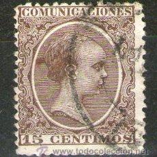 Sellos: SELLO EDIFIL 219 USADO (15 CÉNTIMOS) - ESPAÑA 1889-1899 - ALFONSO XIII. Lote 40919797