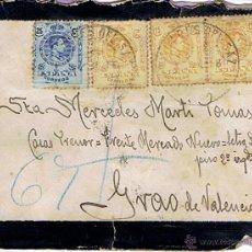 Sellos: SOBRE 1913 - CUÑOS AMB.DES. VALENCIA - RARO. Lote 40931262