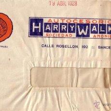 Sellos: ESPAÑA.(CAT. 317A).1928.SOBRE VENTANA PUBLICIDAD AUTOMÓVILES DE BARCELONA. 25 CTS.BONITO Y MUY RARO.. Lote 24780787