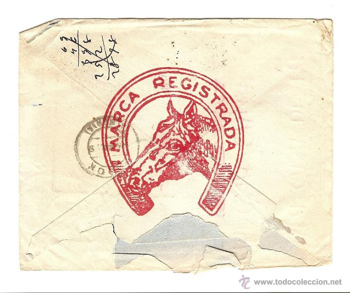 Sellos: REUS (TARRAGONA) - LA CASA DE LA MECHA CABALLO -CIRCULADA AÑO ? - Foto 2 - 41057838