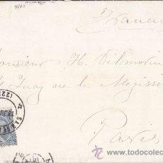 Sellos: SOBRE CIRCULADO DE SAN SEBASTIÁN (GUIPÚZCOA) A PARIS. 25 CTS. PELÓN. AÑO 1893.. Lote 41127608