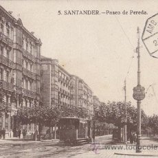 Sellos: BONITA POSTAL DE SANTANDER. CIRCULADA CON MATASELLOS AMBULANTE. 1929. Lote 41228013