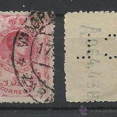 Timbres: ALFONSO XIII MEDALLON PERFORADO CL . Lote 41363862