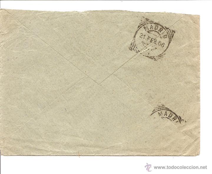 Sellos: LOTE 2 CARTAS CIRCULADAS DE CUEVAS DE VERA (ALMERÍA) A MADRID AÑOS 1905 Y 06 - JAIME ARCAS - Foto 3 - 41368915