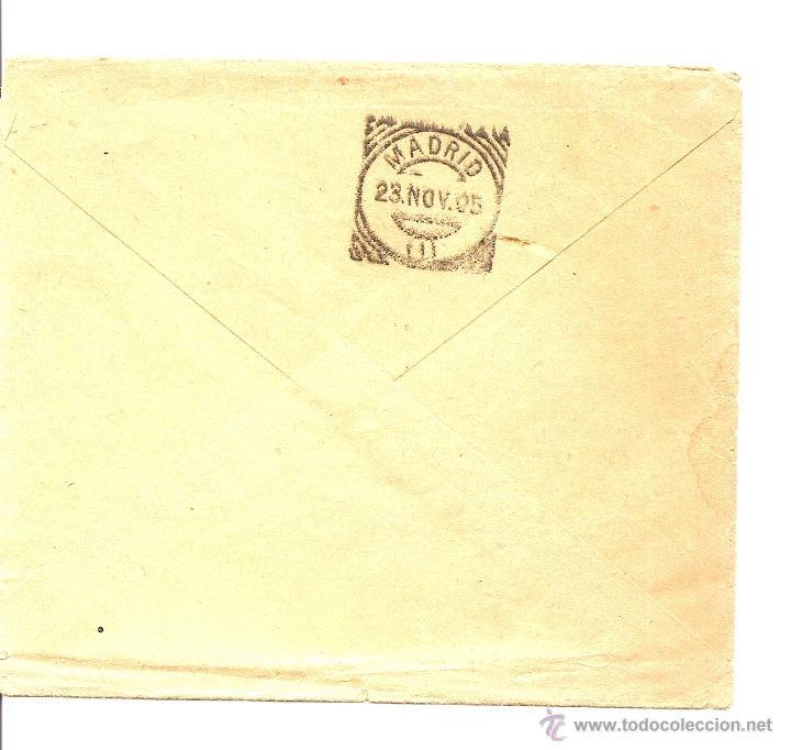 Sellos: LOTE 2 CARTAS CIRCULADAS DE CUEVAS DE VERA (ALMERÍA) A MADRID AÑOS 1905 Y 06 - JAIME ARCAS - Foto 5 - 41368915