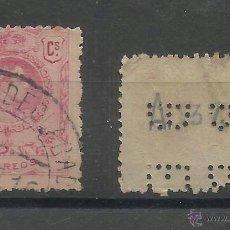 Timbres: ALFONSO XIII MEDALLON PERFORADO BERP. Lote 41376195