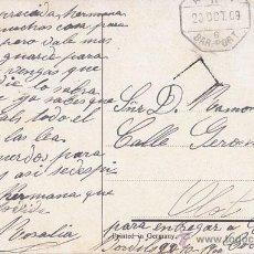 Sellos: POSTAL CIRCULADA A OLOT CON MATASELLOS AMBULANTE BARCELONA PORT. AÑO 1909 SELLO 10 CTS CADETE. Lote 41420588
