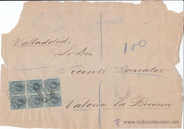 FRONTAL CERTIFICADO. BOLQUE DE 6. 5 CTS. MEDALLÓN. 1914. CÓRDOBA. (Sellos - España - Alfonso XIII de 1.886 a 1.931 - Cartas)