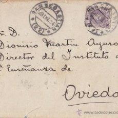 Sellos: SOBRE CIRCULADO DE SAN SEBASTIÁN A OVIEDO. 1904. 15 CTS CADETE.. Lote 41548693
