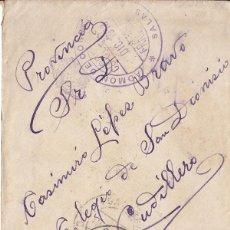 Sellos: SOBRE DE SALAS A CUDILLERO (ASTURIAS) CON FRANQUICIA DE LA ADMINISTRACIÓN DE CORREOS. 1913.. Lote 41706159