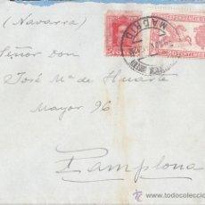 Sellos: SOBRE CIRCULADO CON SELLO DE CORRESPONDENCIA URGENTE Y OTRO DE 25 CTS VAQUER. 1925. A PAMPLONA. Lote 41993356