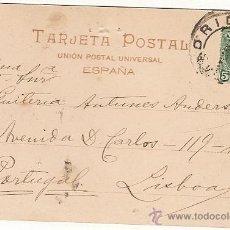 Sellos: ESPANA & MADRID / LISBOA, MADRID PALACIO REAL 1904 (9) . Lote 42002835