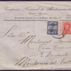 Sellos: ESPAÑA. (CAT. 317A/AYTO.1). 1929. SOBRE DE BARCELONA. 25 C. VARIEDAD DENTADO Y AYTO. RARO EN CARTA.. Lote 43629013