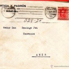 Sellos: . CARTA ORTIGA Y PADROS BARCELONA . Lote 43661834