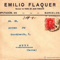 Sellos: . CARTA EMILIO FLAQUER BARCELONA . Lote 43661917