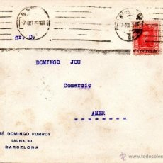 Sellos: . CARTA JOSE DOMINGO PURROY BARCELONA . Lote 43661929
