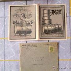 Sellos: J57-CARTA PUBLICITARIA WONEJA BIDONES DE ACERO AÑO 1917 PUBLICIDAD COMIENZOS DE SIGLO XX.TALLERES DE. Lote 43702298