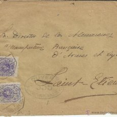 Sellos: CC A FRANCIA SELLOS MEDALLON ALFONSO XIII MAT AMBULANTE DESC 7 BARCELONA PORT BOU MARCAS DE CENSURA . Lote 43774688