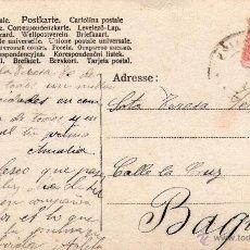 Sellos: SELLO DE ALFONSO XIII - CADETE - 10 CÉNTIMOS - PEGADO EN POSTAL.. Lote 44042828