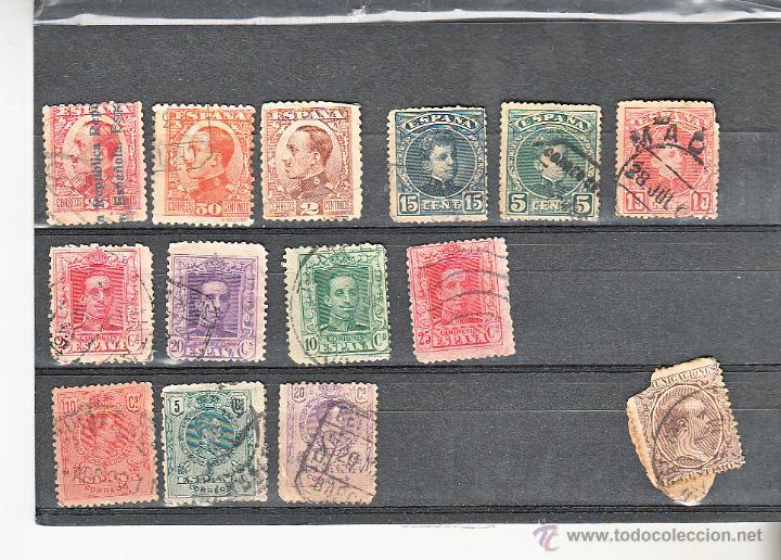 SELLO - ALFONSO XIII USADOS (Sellos - España - Alfonso XIII de 1.886 a 1.931 - Usados)
