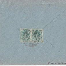 Sellos: SOBRE A PORTUGAL. VILLANUEVA DEL FRESNO (BADAJOZ) PAREJA 5 CTS MEDALLÓN. 1922. Lote 44300930