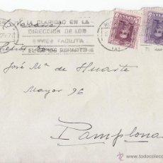 Sellos: SOBRE CON SELLOS DE VAQUER DE 20 Y 5 CTS. 1925. RODILLO.. Lote 44311196