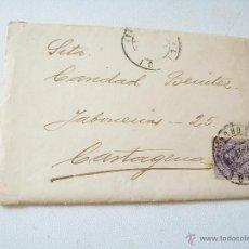 Sellos: SOBRE - CARTA.- FERROL-CARTAGENA.- 27 DE JUNIO DE 1913. Lote 44635997