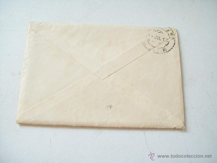 Sellos: SOBRE - CARTA.- FERROL-CARTAGENA.- 27 DE JUNIO DE 1913 - Foto 2 - 44635997