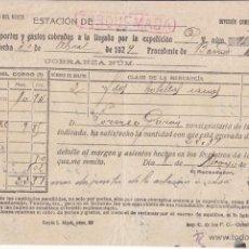 Sellos: FERROCARRIL. LINEAL DE TORQUEMADA (PALENCIA). 1929. CAMINOS DE HIERRO.. Lote 44646555