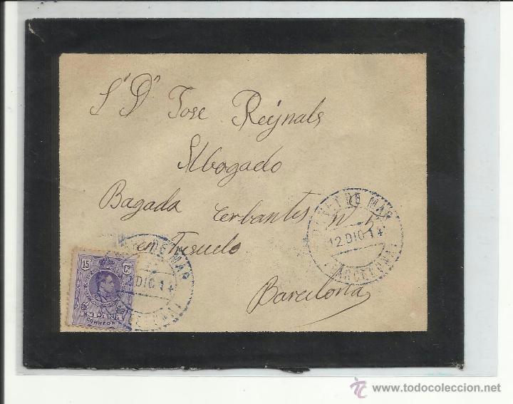 CIRCULADA 1916 DE ARENYS DE MAR A BARCELONA VER FOTO (Sellos - España - Alfonso XIII de 1.886 a 1.931 - Cartas)