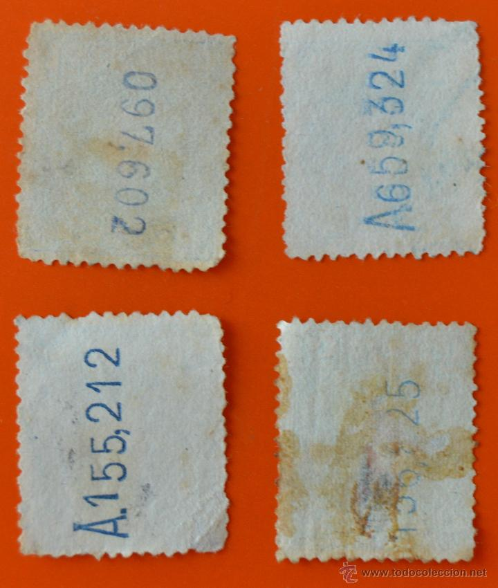 Sellos: LOTE 4 SELLOS ALFONSO XIII - 15 CENTIMOS Y 5 CENTIMOS - Foto 2 - 44898620