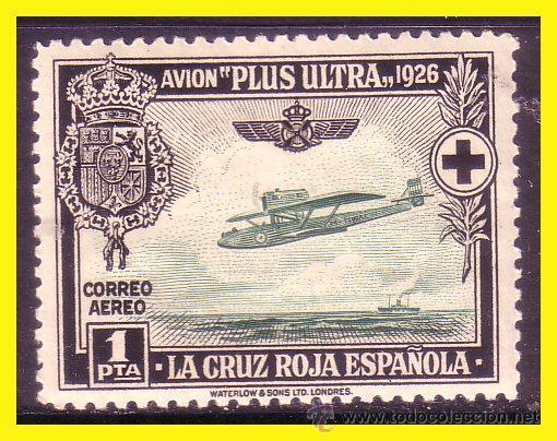 1927 PRO CRUZ ROJA ESPAÑOLA AÉREOS, EDIFIL Nº 347 * * (Sellos - España - Alfonso XIII de 1.886 a 1.931 - Nuevos)
