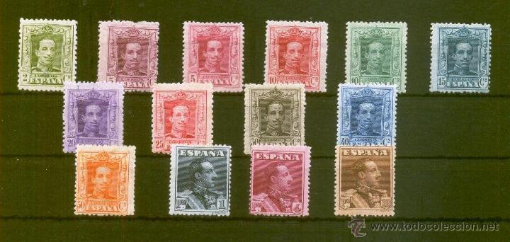 ESPAÑA. EDIFIL 310/23 *. ALFONSO XIII. TIPO VAQUER (Sellos - España - Alfonso XIII de 1.886 a 1.931 - Nuevos)