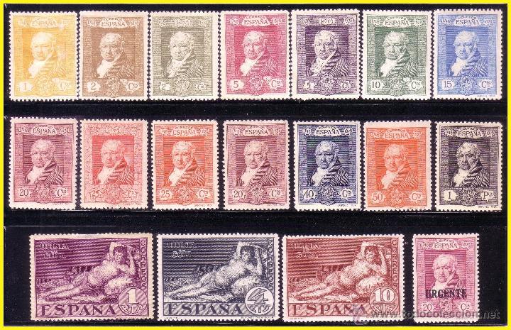 1930 GOYA TERRESTRE, EDIFIL Nº 499 A 516 * SERIE COMPLETA (Sellos - España - Alfonso XIII de 1.886 a 1.931 - Nuevos)
