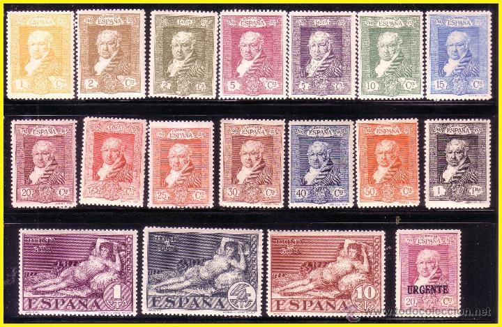 1930 GOYA TERRESTRE, EDIFIL Nº 499 A 516 * * SERIE COMPLETA (Sellos - España - Alfonso XIII de 1.886 a 1.931 - Nuevos)