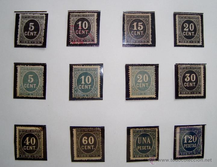 Sellos: CIFRAS LOTE DE SELLOS AÑOS 1897 Y 1898 NUEVOS Y USADOS - Foto 2 - 45690143