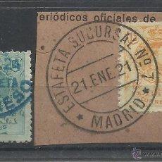 Francobolli: MARCAS CONGRESO DIPUTADOS Y MEDALLON MADRID. Lote 45729352