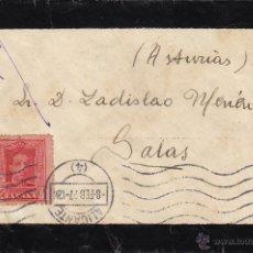 Sellos: CARTA LUTO -.MAT ALICANTE / SALAS ( ASTURIAS ) .Nº 317 VAQUER . AL DORSO LLEGADA . . Lote 45973701