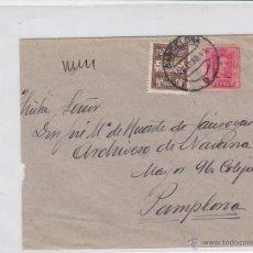 Francobolli: CARTA -.MAT BARCELONA 1930 / PAMPLONA ( NAVARRA ) Nº 317 VAQUER Y AYUNTAMIENTO BARCELONA .LLEGADA. Lote 45981037