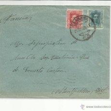 Sellos: CIRCULADA 1929 DE GRANADA A MONTPELLIER FRANCIA MATASELLO LLEGADA . Lote 46061984