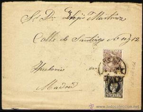 CARTA EDIFIL 240 GRAN DEFECTO (Sellos - España - Alfonso XIII de 1.886 a 1.931 - Cartas)
