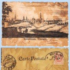 Sellos: 1902.- T.P. DE LIMOGES CIRCULADA DE S.SEBASTIAN A ZARAGOZA, MARCA DE TRÁNSITO MIXTO NAVARRA. LLEGADA. Lote 47109960