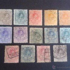Sellos: ALFONSO XIII. EDIFIL 267 A 279. 1909 - 1922. TIPO MEDALLÓN. SERIE/COLECCIÓN. A FALTA DEL DE 10 PTAS.. Lote 47361052