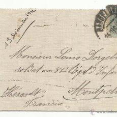Sellos: CIRCULADA Y ESCRITA 1921 DE BARCELONA A MONTPELLIER FRANCIA. Lote 47380457