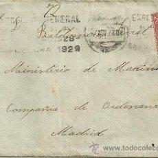 Sellos: CARTA A BALDOMERO SERRAT CON TROZO DE TELA ENVIADO POR SU NOVIA - BARCELONA 1929. Lote 47415389