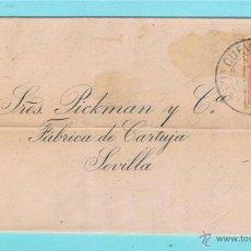 Sellos: 1887 CUEVAS DE VERA (ALMERIA) A SEVILLA. Lote 47682378