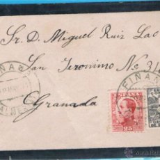 Sellos: 1931 FIÑANA (ALMERIA) A GRANADA EDIFIL 495-492. Lote 47701525