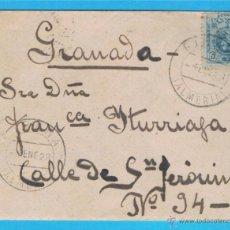 Sellos: 1923 FIÑANA (ALMERIA) A GRANADA EDIFIL 274. Lote 47716814